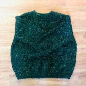 Green Tinsel Oversized Sweater